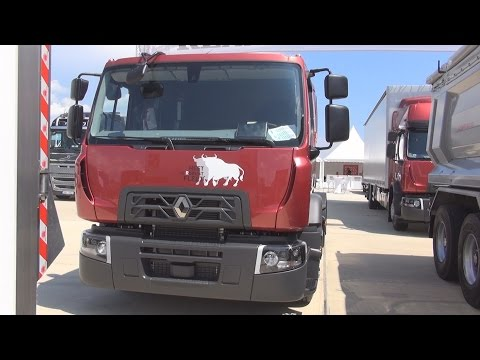 Renault Trucks D 18 Car Carrier Truck (2016) Exterior and Interior in 3D