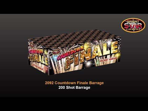 Bright Star Fireworks Countdown Finale - 200 shot barrage