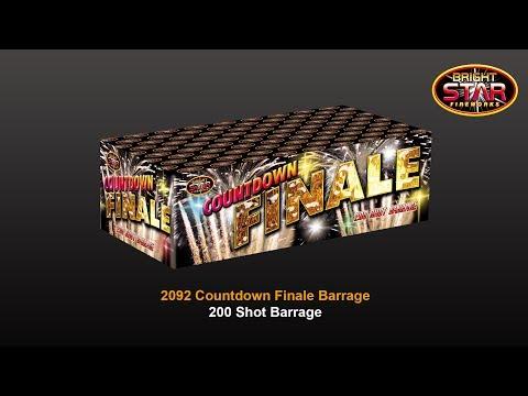 Bright Star Fireworks Countdown Finale - 200 shot barrage