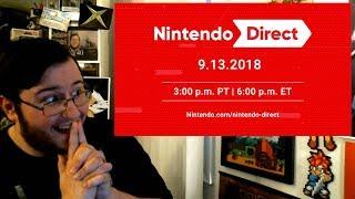 "Gors ""Nintendo Direct 9.13.2018"" LIVE REACTION (Direct Starts @ 3:47)"