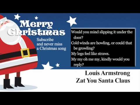 Louis Armstrong - Zat You Santa Claus - Lyrics (Paroles)