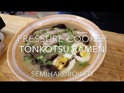 Easy Pressure Cooker Japanese Tonkotsu Ramen