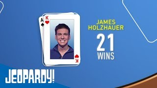 James Holzhauer Becomes the 2nd-Winningest Contestant | JEOPARDY!