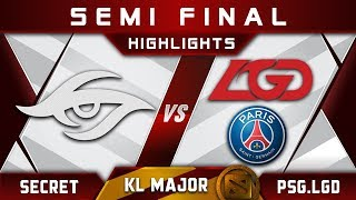 Secret vs PSG.LGD Semi Final Kuala Lumpur Major KL Major Highlights Dota 2