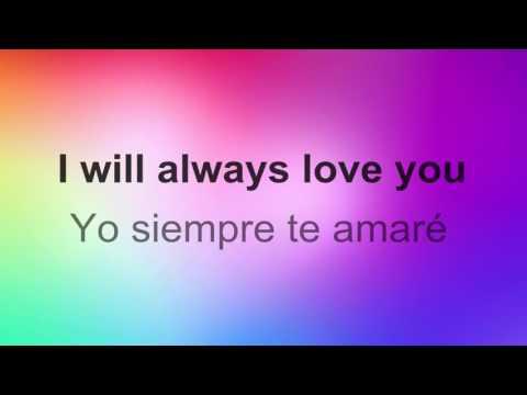 ♥ I'll Always Love You ♥ ~ Whitney Houston~Subtitulada inglés/español