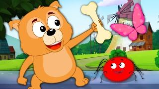 Bingo The Dog Sat On A Wall | Original Nursery Rhymes | Kids Songs | Baby Rhymes | Childrens Videos