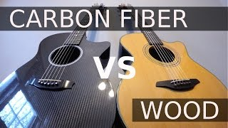 Carbon Fiber vs Wood - Guitar Tone Comparison