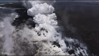Hawaii volcano eruption leads to explosions when waves crash into lava