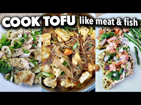 How to Cook Tofu like MEAT or FISH (easy vegan recipes to replace meat/fish)