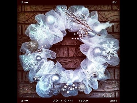 Easy Amp Quick Tutorial How To Make Geo Or Deco Mesh Wreath
