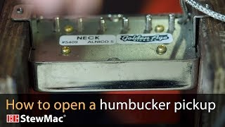 Watch the Trade Secrets Video, How to open a humbucker with a hammer