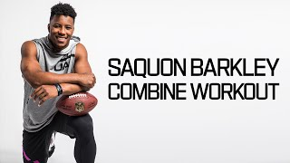 Saquon Barkley's Ridiculous Workout 💪  2018 NFL Combine Highlights