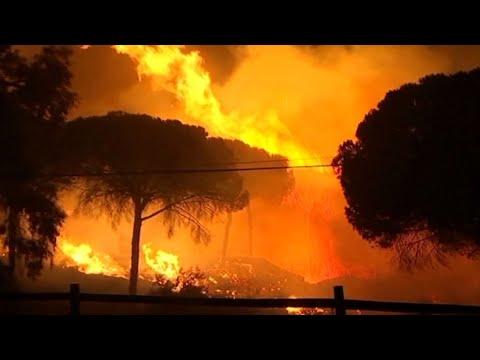 إجلاء المئات بسبب حرائق غابات في جنوب إسبانيا