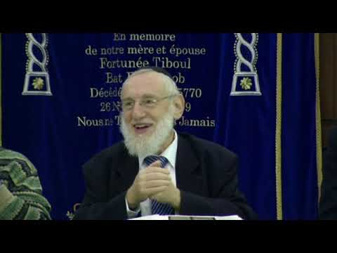 Cours du Grand Rabbin de Paris Michel Gugenheim du 4 novembre 2012