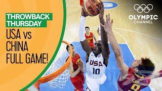 USA v China - Beijing 2008 - Basketball Replays   Throwback Thursday