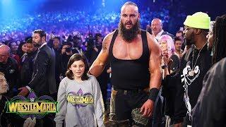Young WWE fan Nicholas teams with Braun Strowman against The Bar: WrestleMania 34 (WWE Network)