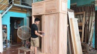 Làm tủ áo cánh lùa (make wardrobe door push)
