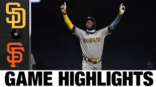Padres score six in the 10th in 12-7 win   Padres-Giants Game Highlights 7/30/20