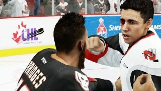 NHL 16 Be A Pro Career Mode Gameplay Ep. 3 - Bully Gets KNOCKED OUT! Unsportsmanlike Conduct