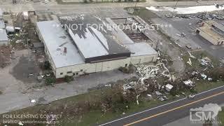 10-11-2018, Tyndall AFB  destruction Hurricane Michael, fighter jet flipped upside down Chopper vid