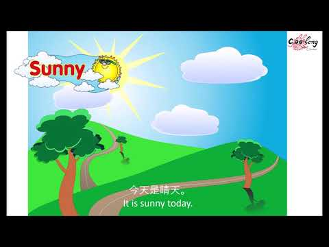 【天气歌】Song - How's the weather today? | 今天天气怎么样?  Chinese weather song