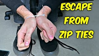 How to Escape from Zip Ties with Shoelaces