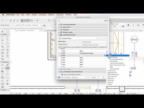 ARCHICAD 20 - Properties in the Categories and Properties Label