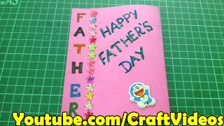 Father's day easy card ideas for kids and making tutorial