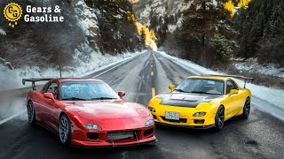 Driving 48 States in Two Mazda FD RX7s