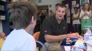 Boy shot in Dorchester gets surprise visit from Gronk