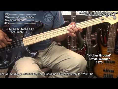 😎 30 Easy Famous MUST KNOW Bass Guitar Line Hooks & Riffs With TABS Vol.1