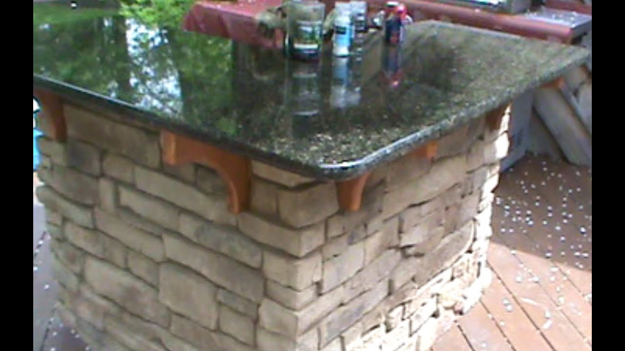 How To Build A Cultured Stone Outdoor Bar Youtube
