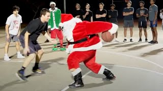 Santa DISRESPECTS Hoopers 1v1 IRL