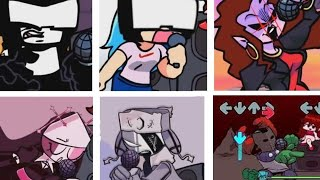 Different 7 Characters Sing Ugh - Friday night funkin