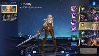 Hướng dẫn chơi Butterfly đi rừng sát thủ dễ PENTAKILL nhất Liên quân mobile