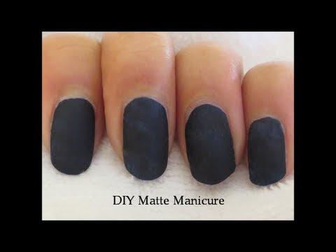Diy Matte Mani Without Matte Nail Polish Youtube