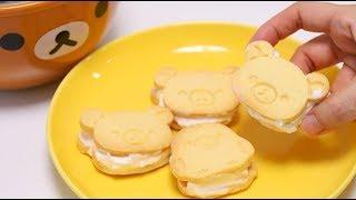 Rilakkuma Honey Ice Cream Sandwich Cookies Making