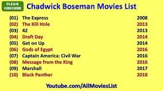 Chadwick Boseman Movies List