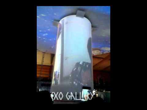 120815 EXO Kris Chanyeol Lay Tao video call @ SM ART EXHIBITION