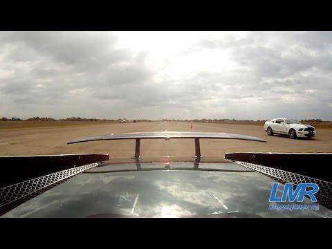Twin Turbo Lamborghini vs 1200hp Mustang