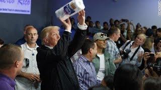Trump defends tossing paper towels in Puerto Rico