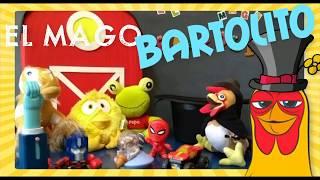El Mago Bartolito! Hace aparecer juguetes de la cajita feliz de Mc Donalds! Transformers transilvani