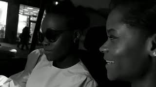 Lupita Nyong'o and Letitia Wright freestyle rap on their way to the Black Panther premiere