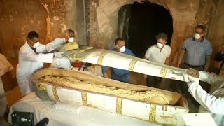 Archaeologists unveil ancient Luxor tomb, open closed coffin for first time