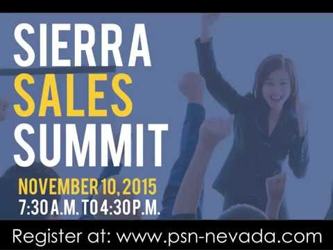 Sierra Sales Summit, November 10th in Reno, NV
