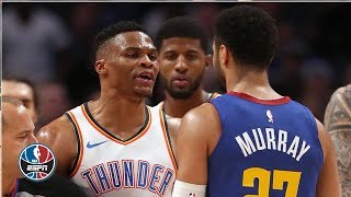 Russell Westbrook, Jamal Murray scrum caps off Nuggets' win vs. Thunder | NBA Highlights