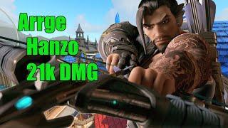 Arrge Pro Hanzo EU 21k DMG - Grand Master Gameplay Overwatch Season 15