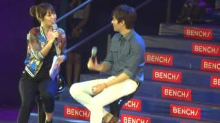 03212014 Lee Min Ho speaking/learning tagalog and teaching fans how to speak korean