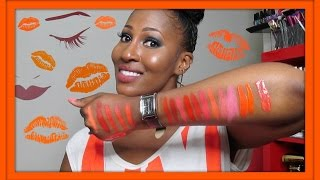 My Orange Lipstick Collection!!