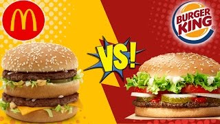 McDonald's Big Mac vs BK Whopper